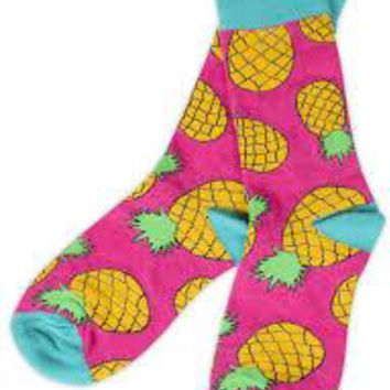Simply Southern Preppy Sock Pineapple