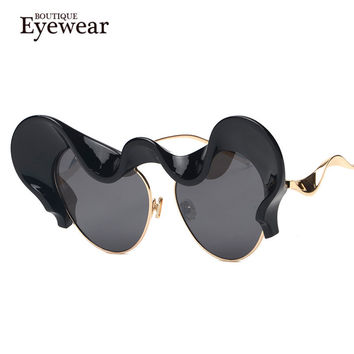 BOUTIQUE Fashion Women Unique Inspired Cat Eye sunglasses Alloy Leg Retro Vintage Sunglasses H1632