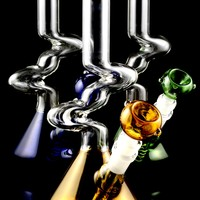 Small Colored GoG Zig Zag Water Pipe - WP1426