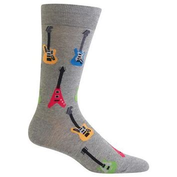 Men's Electric Guitars Crew Socks