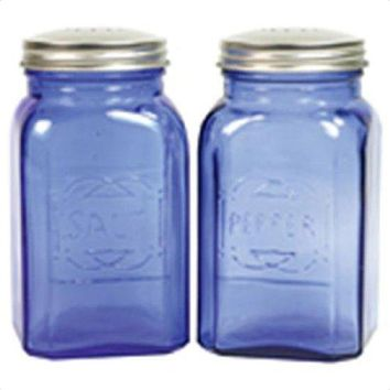 Culinary Accessories Mills Shakers Retro Salt Pepper Shaker 4 1/2 x 2 3/4 Blue 223870 by Frontier