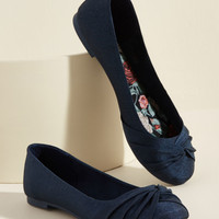 Knot Without You Flat in Navy
