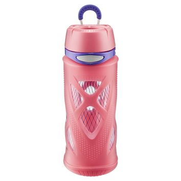 ZULU Shorty Tritan Plastic Water Bottle 16oz - Pink/Purple