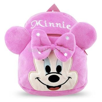Mochila Minnie Mouse Backpack Kawaii Cute Pink Plush Bags for Baby Girls Preschool Backpacks School Bags Kids Schoolbag