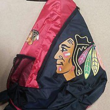 Chicago Blackhawks BackPack / Back Pack Book Bag NEW NHL - TEAM COLORS - SLING