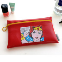 Rollercoaster Pop art flat pouch ver.2 - wonder woman