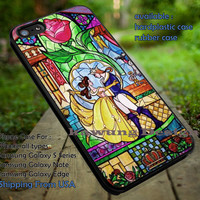 The Beauty and The Beast Stained Glass Art iPhone 6s 6 6s+ 5c 5s Cases Samsung Galaxy s5 s6 Edge+ NOTE 5 4 3 #cartoon #disney #animated #BeautyAndTheBeast dt