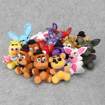 15cm Kawaii  At Freddy Plush Pendant for Bag Phone Decoration Keychian Soft Peluche Anime  Toy Doll for Kids