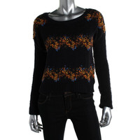 Maison Jules Womens Textured Knit Pullover Sweater