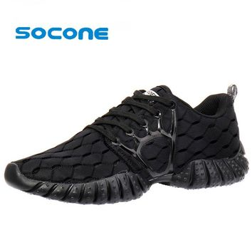 Socone New 2016 Breathable Running Shoes Summer Outddor Lace up Walking Shoe Women Athletic Sneakers Sport Shoes zapatallias