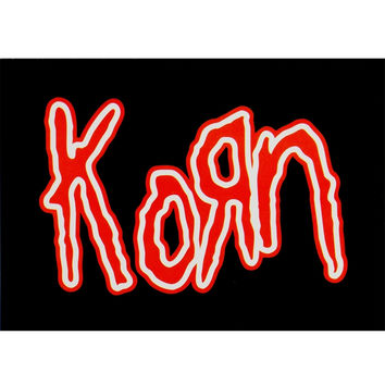Korn - Red Logo Postcard