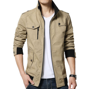 Korean Autumn Men Casual Cotton Slim Jacket [8971060611]
