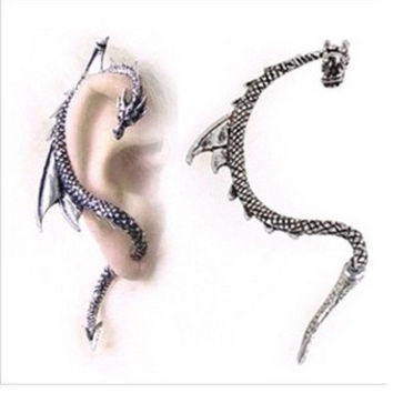 Fashion European style Gothic Punk Game of Thrones Dragon Ear Cuff Stud Earring Jewelry for women and men = 1669160132