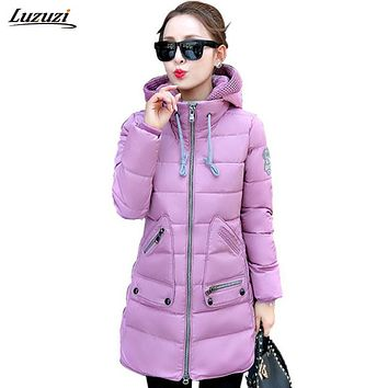1PC Plus Size 7XL Winter Jacket Women Winter Coat Hooded Parka Jaqueta Feminina Chaquetas Mujer Casacos De Inverno Feminino Z519