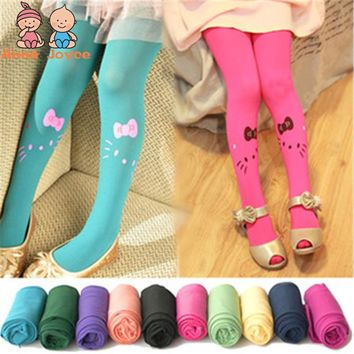 3-8 Years Children's Velvet Smiley Tights Kids Baby Spring Pantyhose Girls Dance for Kids Children Tights Child Tights