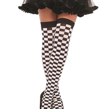 Leg Avenue Female Checkered Stockings E 6281