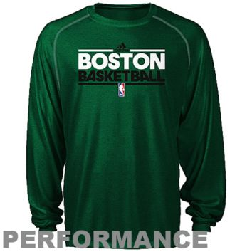 adidas Boston Celtics Youth ClimaLITE Heathered Performance Long Sleeve T-Shirt - Kelly Green - http://www.shareasale.com/m-pr.cfm?merchantID=7124&userID=1042934&productID=520985539 / Boston Celtics