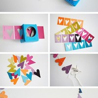 to make / Paper punch heart garland in Crafts for decorating and home decor, parties and