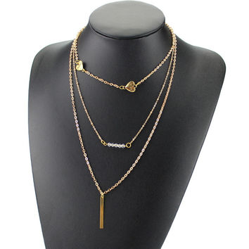 Stylish New Arrival Gift Shiny Jewelry Ladies Crystal Necklace [6464831873]