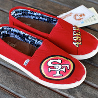 Youth San Francisco 49ers TOMS shoes