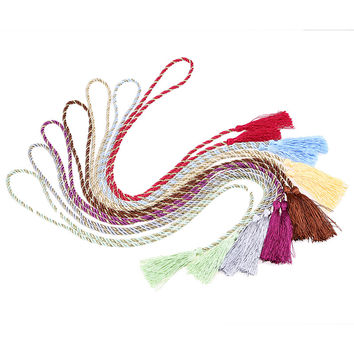 1pc decoratieve gordijn tiebacks Fringe Rope Holdbacks Tie Backs Home Bedroom Hanging Buckle Decoration