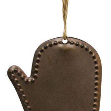 Punched Tin Mitten Ornament