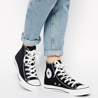 Converse Chuck Taylor All Star High Top Black Trainers at asos.com
