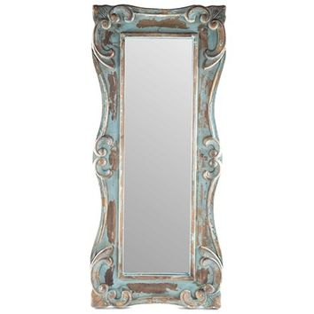 Distressed Blue Wooden Wall Mirror | Shop Hobby Lobby