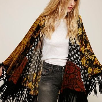 Free People Ever After Fringe Kimono