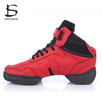 High Quality Dancing Shoes For Women/Men Genuine Leather Modern Jazz Sneakers Ladies Profession Fitness Shoes Plus Big 26.5cm