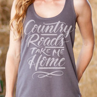 Country Roads Take Me Home | French Terry Racerback Tank