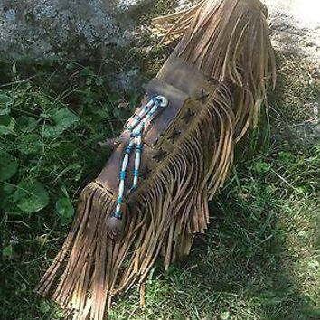 Distressed Leather Archery Quiver Custom Made Native Style