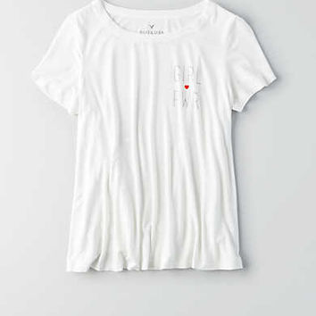 AEO Soft & Sexy Swing T-Shirt, Natural White