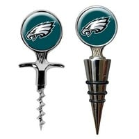 Philadelphia Eagles Cork Screw & Wine Bottle Topper Set (Eag Team)