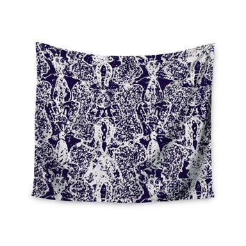 "Laura Nicholson ""Loony Lace"" Blue Illustration Wall Tapestry"