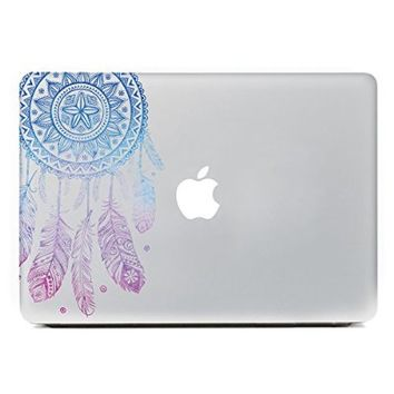 "iCasso Dream Catcher Removable Vinyl Decal Sticker Skin for Apple Macbook Pro Air Mac 13"" inch / Unibody 13 Inch Laptop (Blue and Pink)"