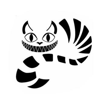 16.5*15.3CM Alice In Wonderland Cheshire Cat Vinyl Decal Car Styling Fashion Cartoon Decorative Stickers C4-0415