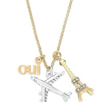Juicy Couture Gold-Tone Jet-Set Charm Necklace