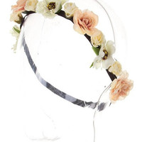 Ivory Floral Festival Crown | The Handmade Hustle