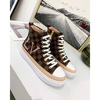 LV 2019 new high quality women's canvas sneakers
