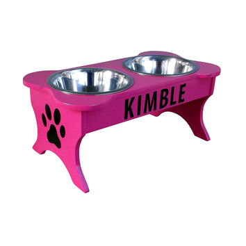 Personalized Elevated Dog Bowl Holder 8 1/2""