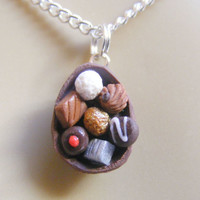 Food Jewelry Easter egg pendant, Egg Necklace, Candy pendant, Chocolate egg Miniature Food Necklace Mini Food Easter pendant  Easter jewelry