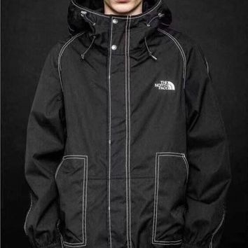 """The North Face"" Men Sport Unique Personality Casual Leisure Upright Neck Hooded Print Long Sleeve Zip Cardigan Jacket Coat Baseball Clothes"