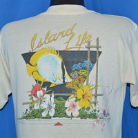 70s Spotfin Butterfly Fish Gulfport Beach Florida t-shirt Medium