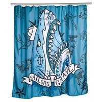 Too Fast Blue Sailors Grave Shower Curtain