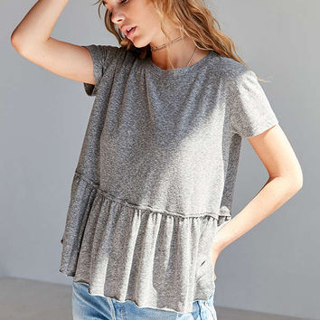 Truly Madly Deeply Dusty Road Peplum Tee Dress | Urban Outfitters