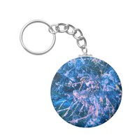 BLUE ALIEN VIRUS KEYCHAIN