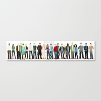 Teen Wolf Cast Canvas Print by Puckboum