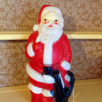 Vintage Empire Plastic Santa Claus Lighted Christmas Decoration Display