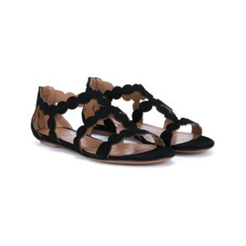 AZZEDINE ALAÏA   Laser-Cut Suede Sandals   brownsfashion.com   The Finest Edit of Luxury Fashion   Clothes, Shoes, Bags and Accessories for Men & Women